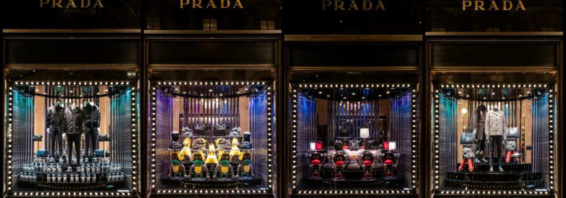 Creatures Invading Prada Store Windows